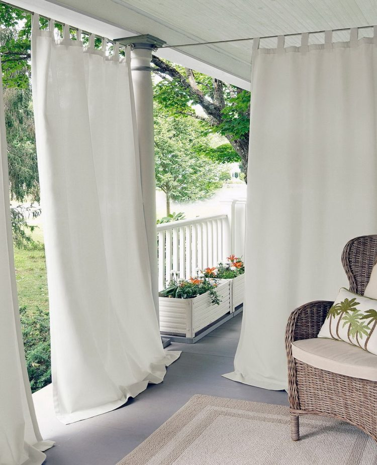 outdoor curtains pair