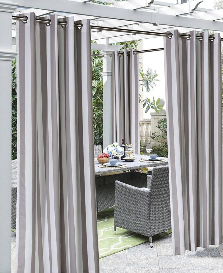 outdoor voile curtains