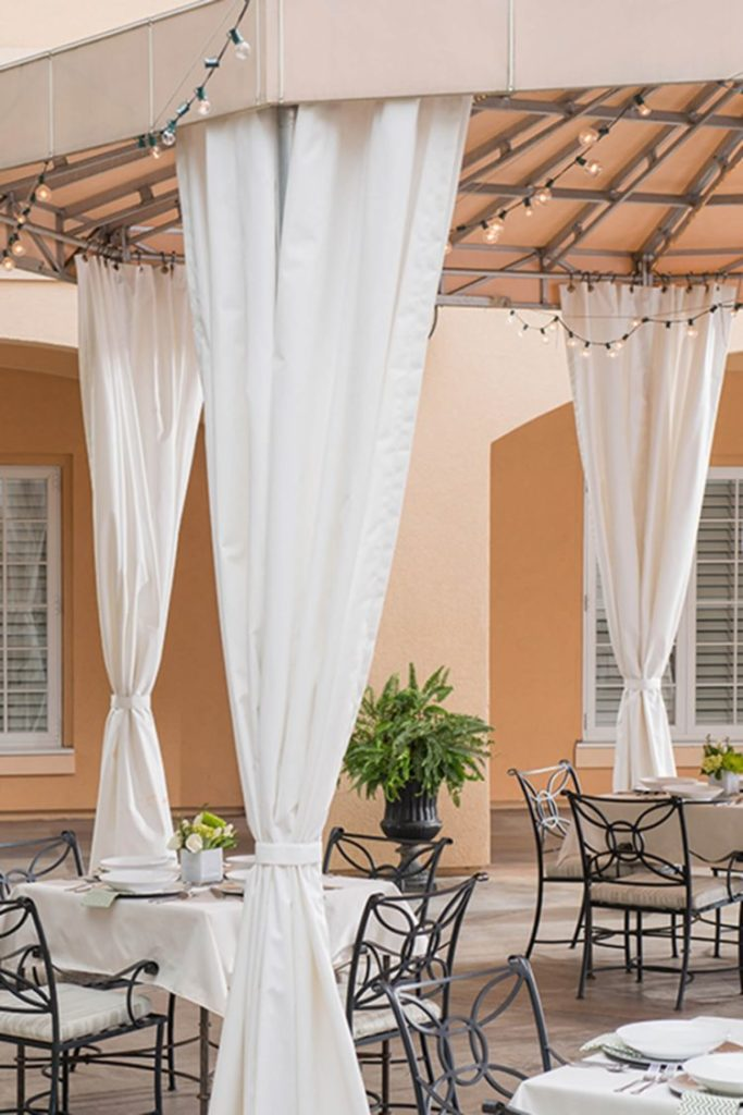 outdoor curtains top and bottom grommets