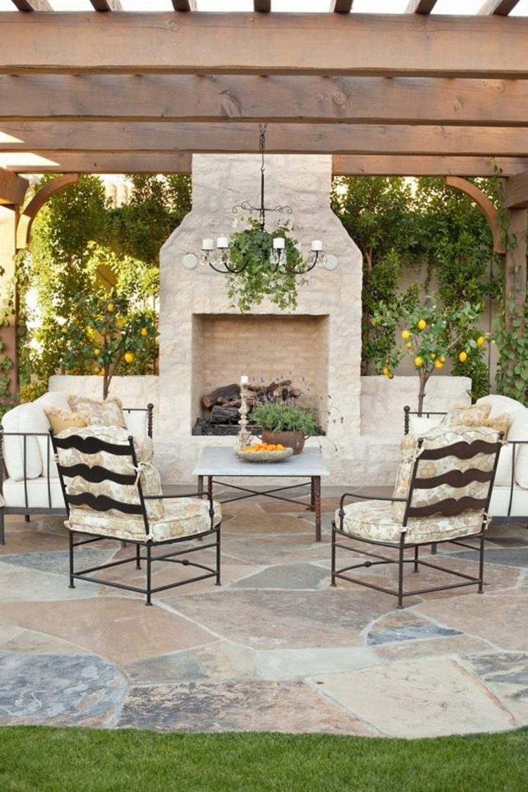 outdoor fireplace metal cover