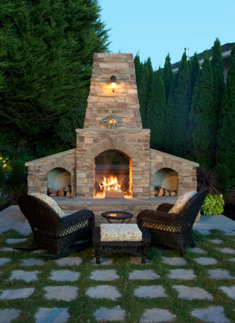 outdoor fireplace mortar