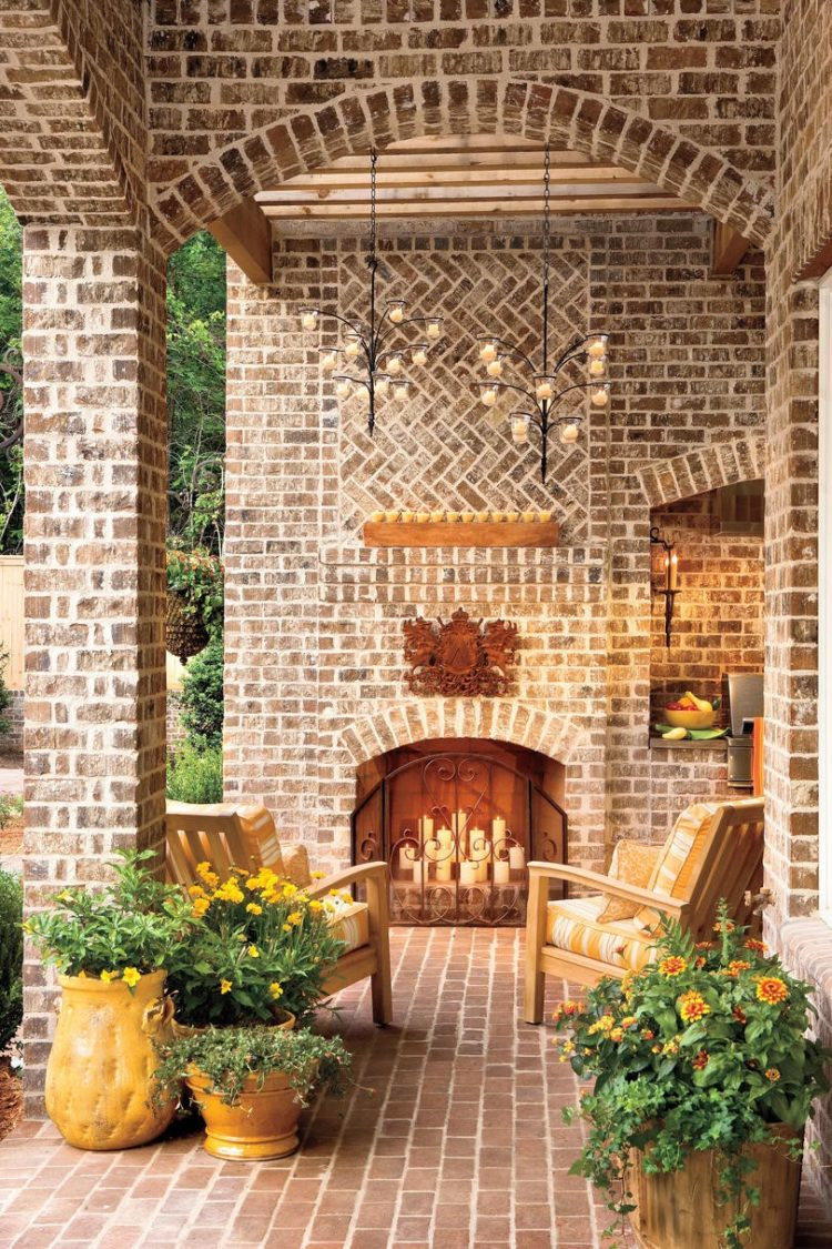 outdoor fireplace mat