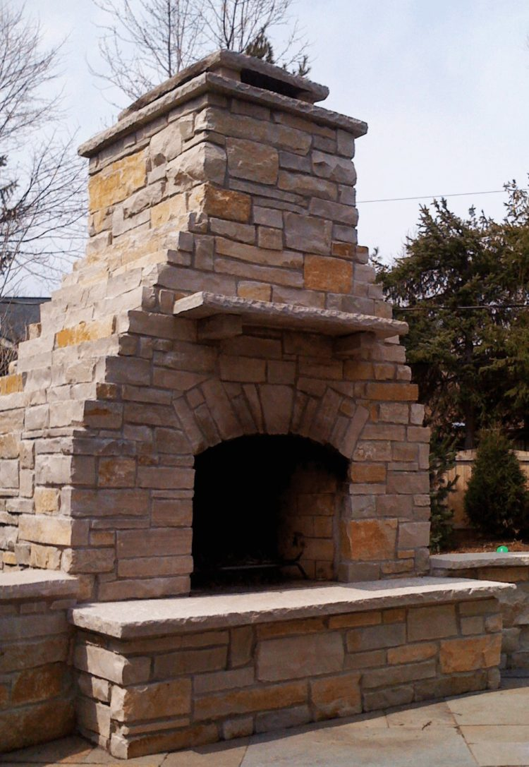 outdoor fireplace pergola