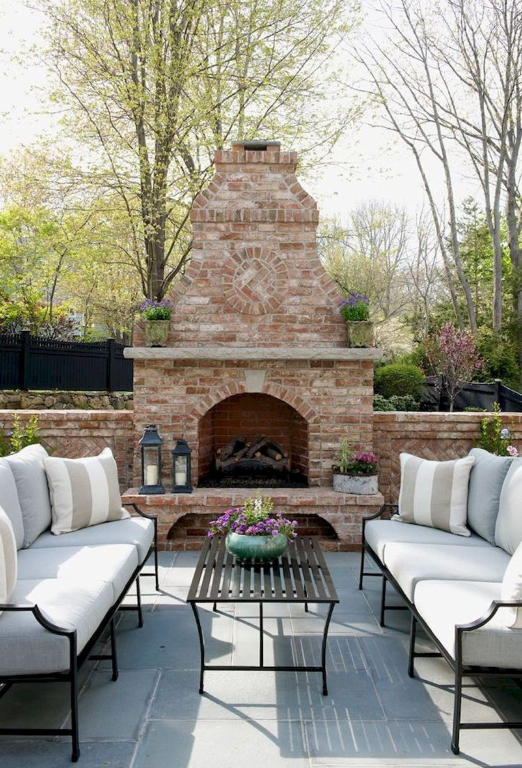 outdoor fireplace images
