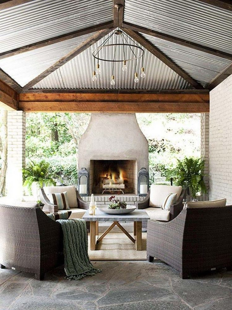 outdoor fireplace gas or wood