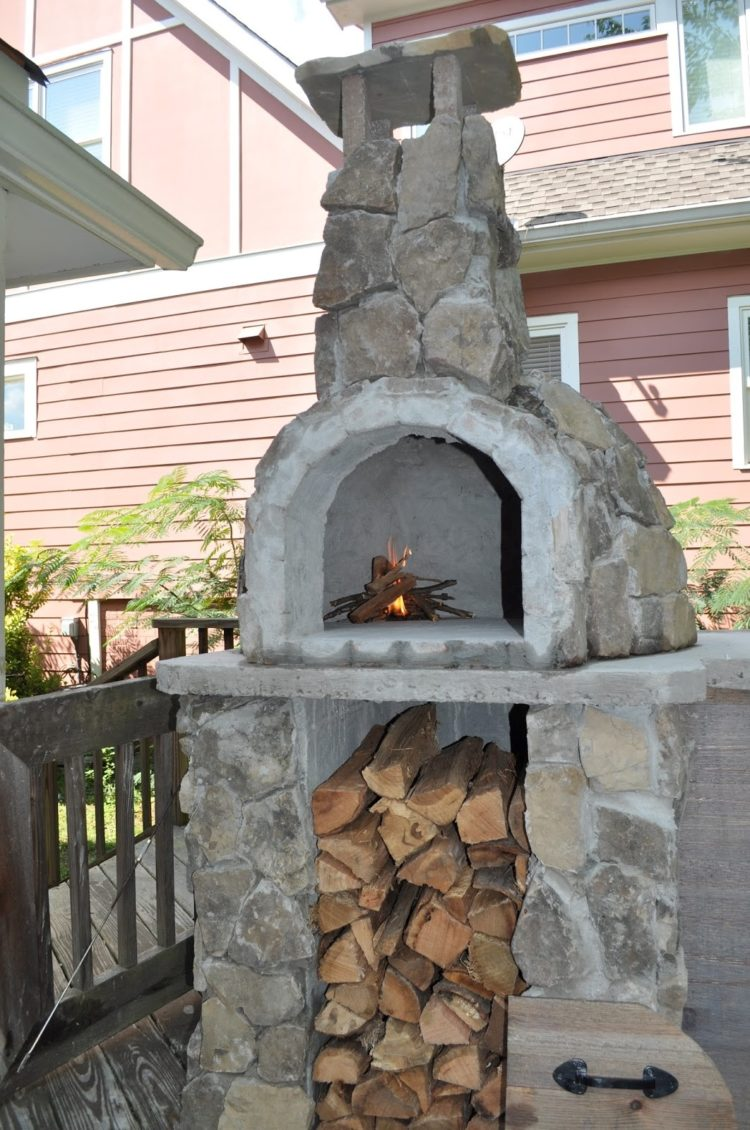 outdoor fireplace glass