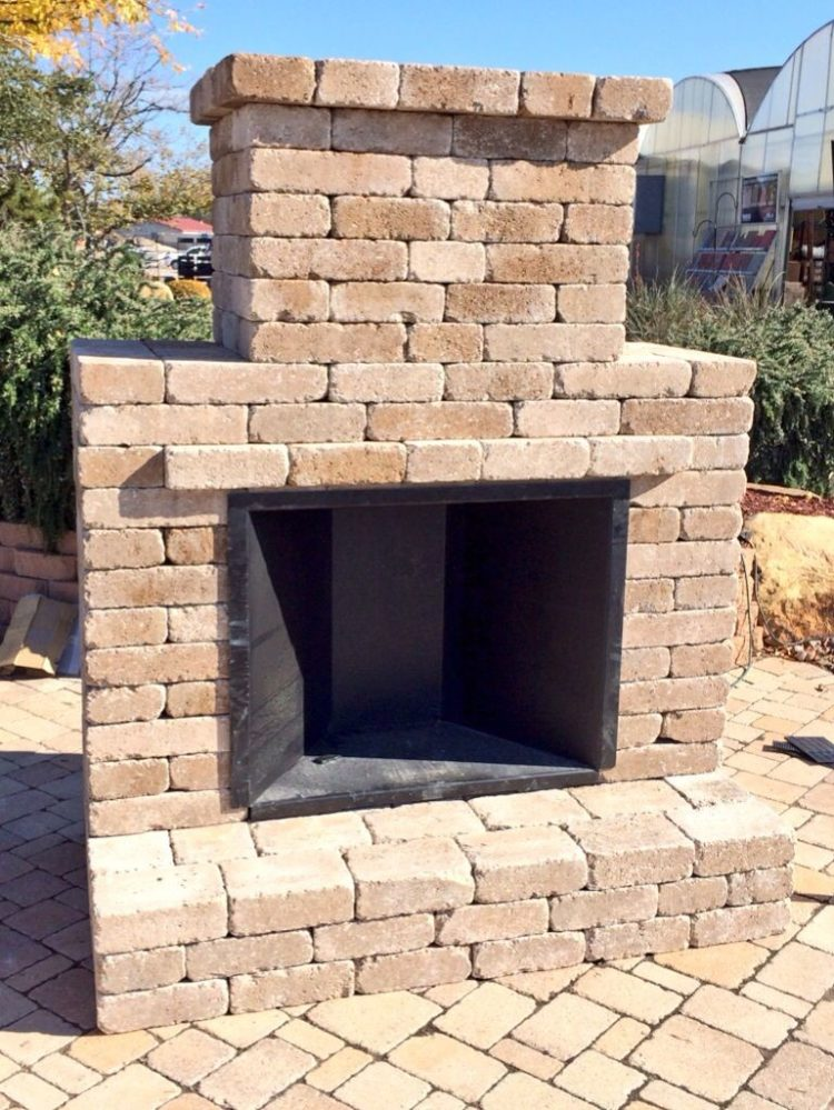 outdoor fireplace foundation