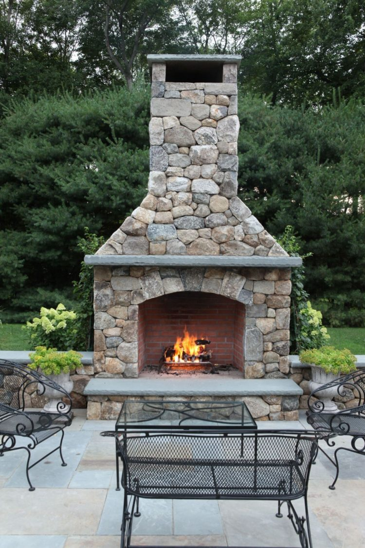outdoor fireplace ethanol