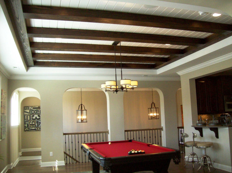 adding a coffered ceiling