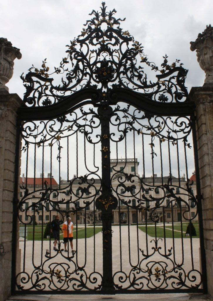 cleaning a wrought iron fence