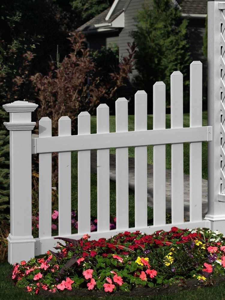 white picket fence install