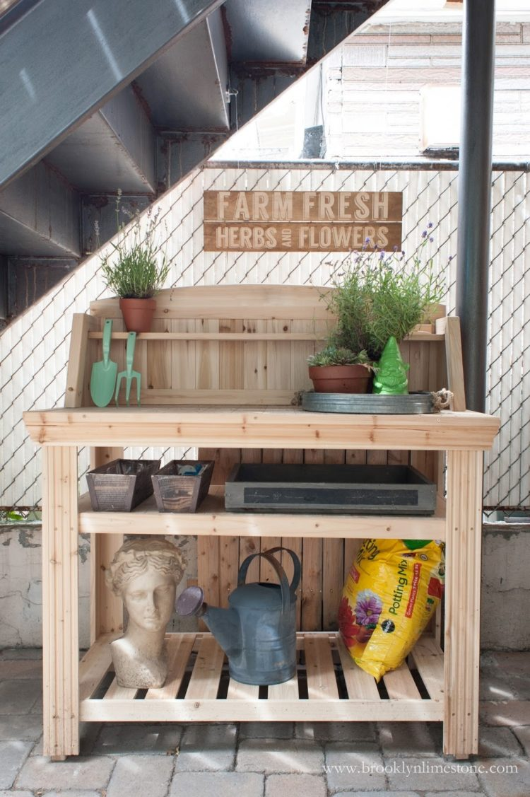 potting bench from changing table