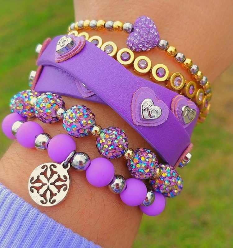 rustic cuff purple