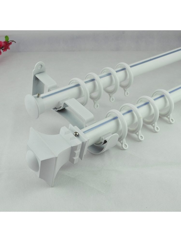 double curtain rod gunmetal