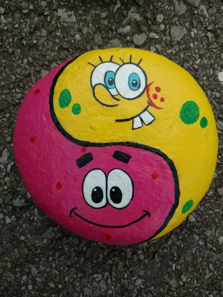 rock painting heart ideas