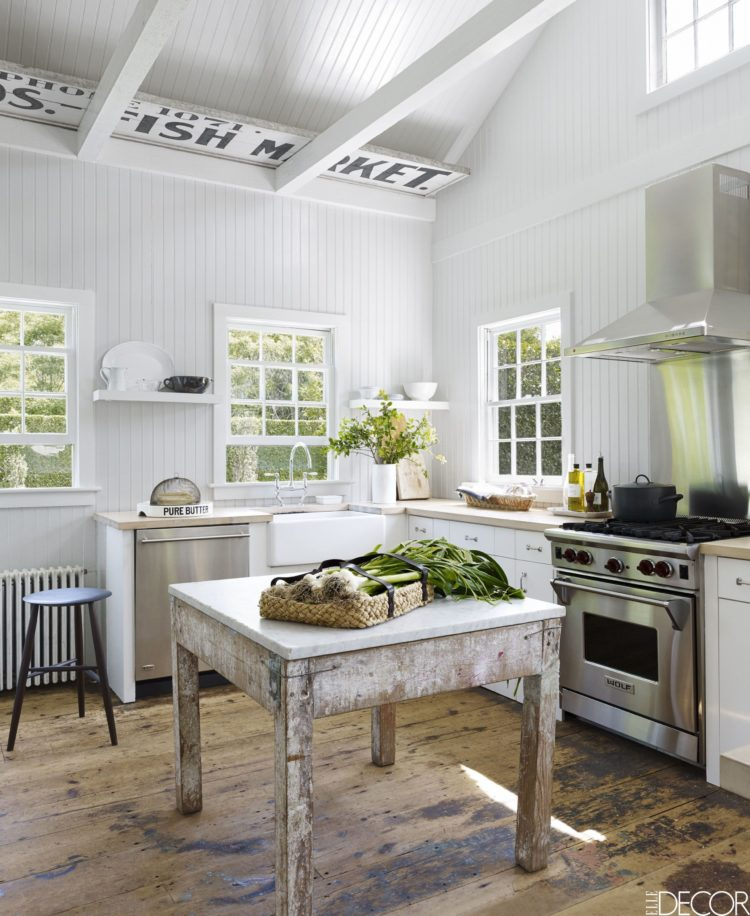 rustic kitchen buffet table
