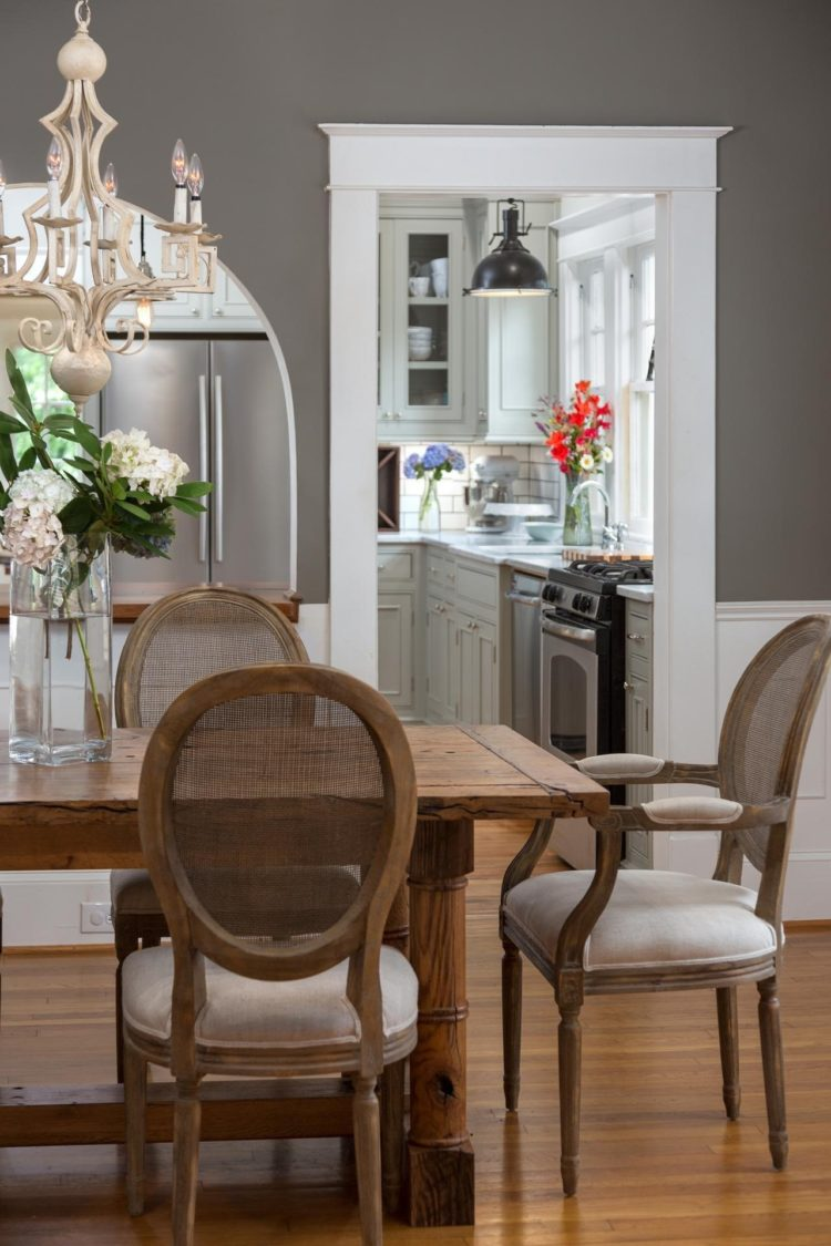 wood table dining room