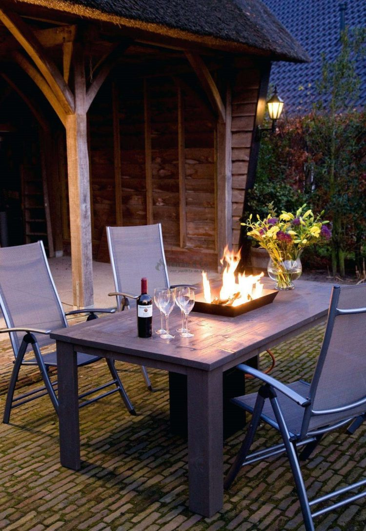 fire pit table glass guard