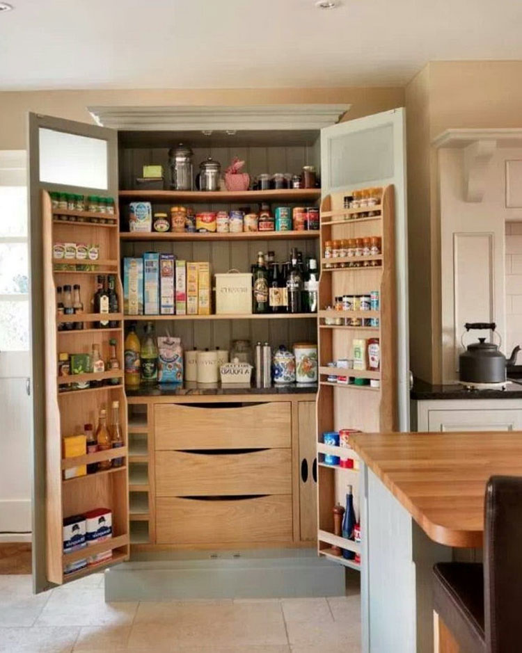 50+ Mind-blowing Kitchen Pantry Design Ideas for Your ...