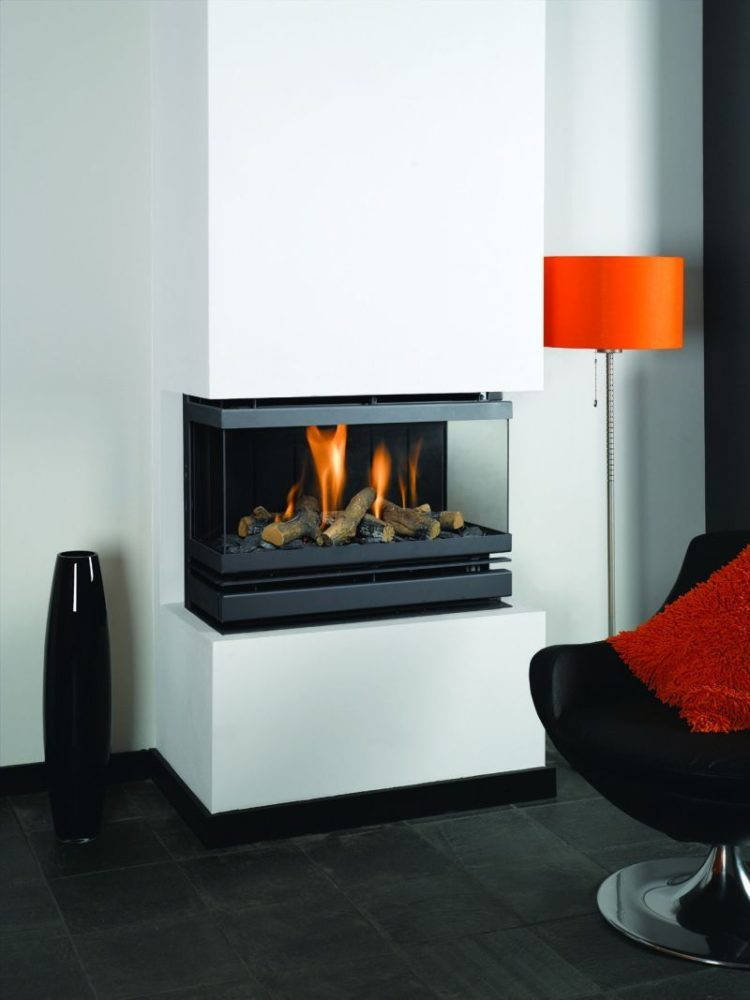 ventless gas fireplace vs electric