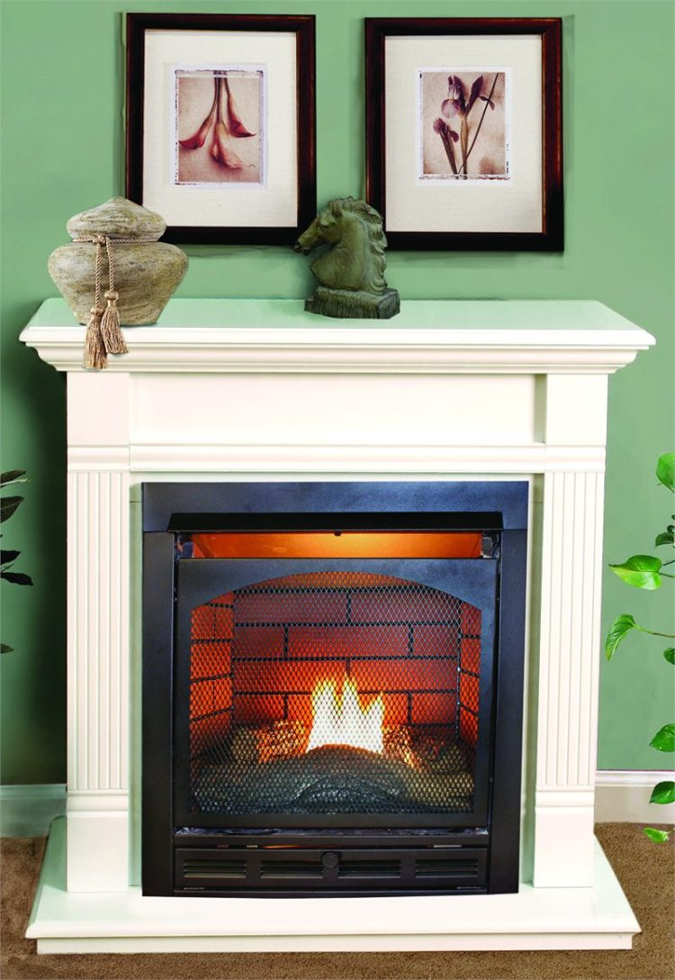 ventless gas fireplace double sided