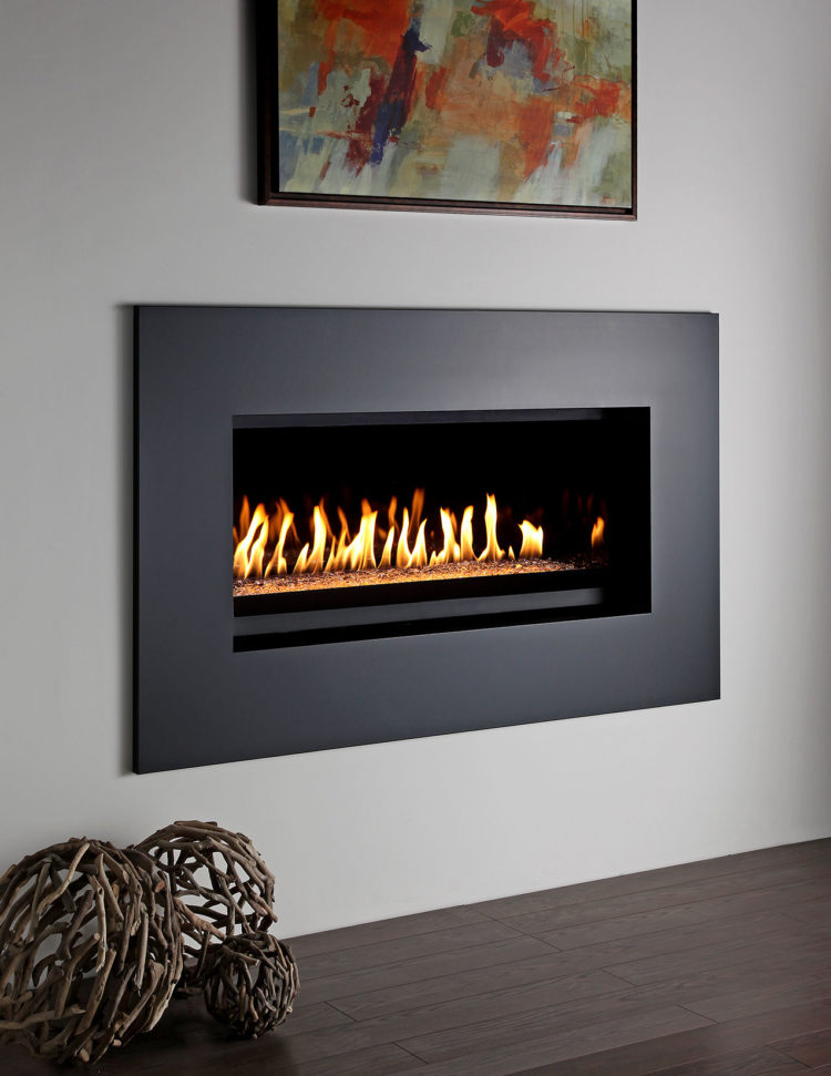 ventless gas fireplace outside