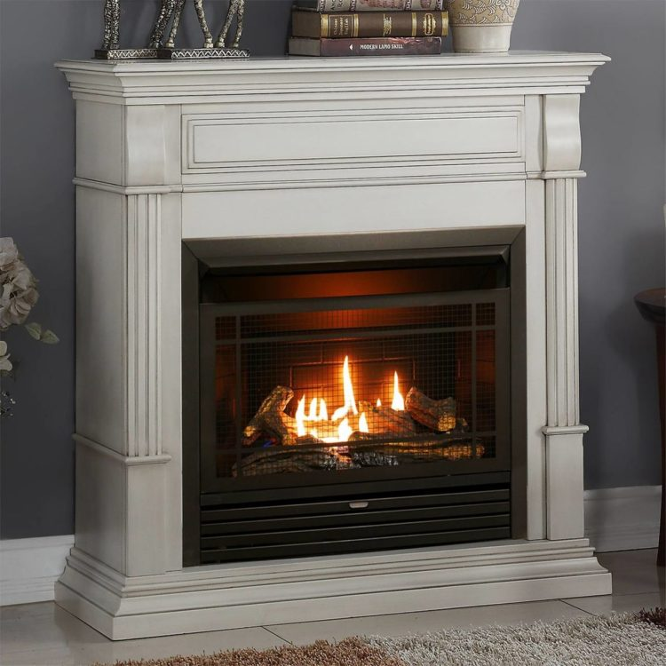 ventless gas fireplace stove
