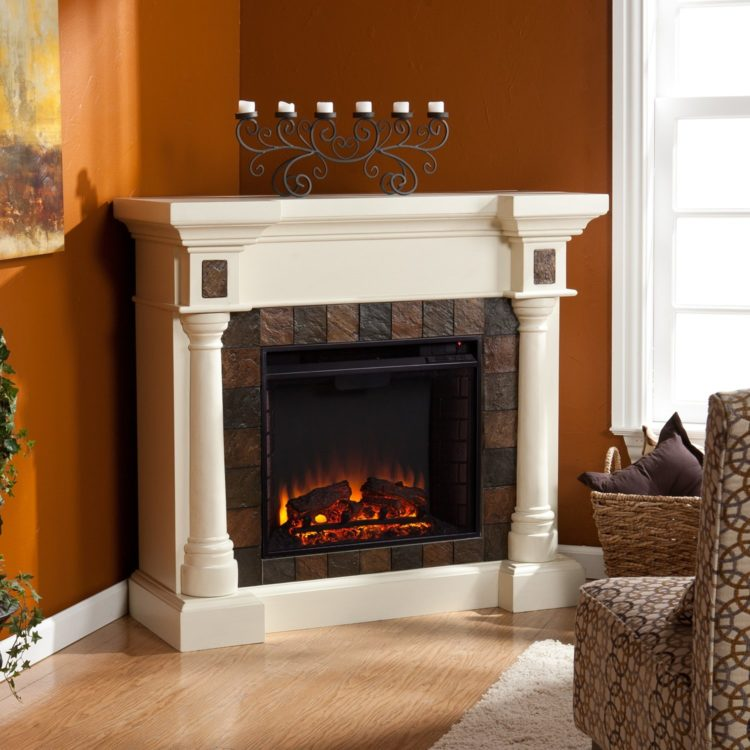 ventless gas fireplace stand alone