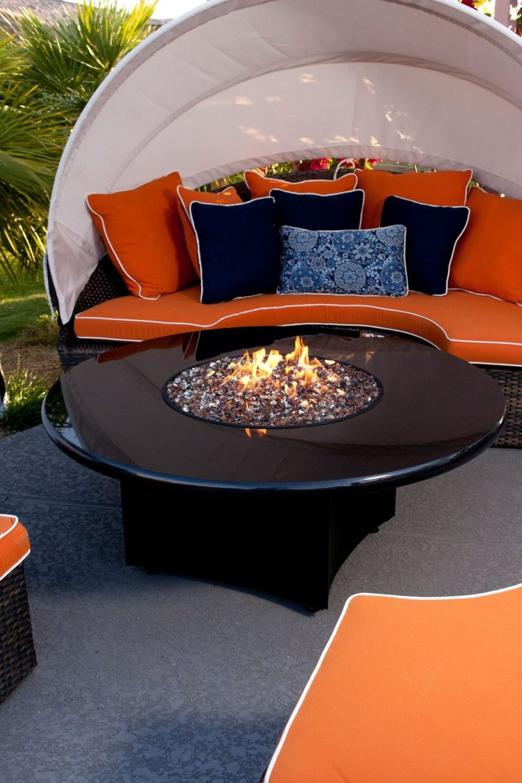 fire pit table glass cover