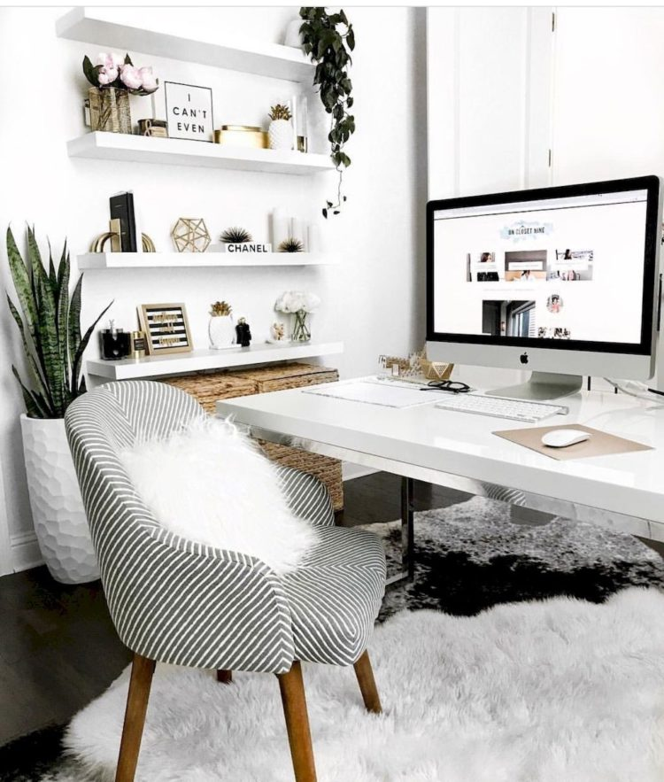 white desk home goods