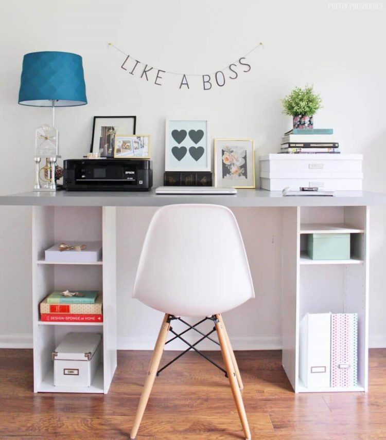 white desk rustic