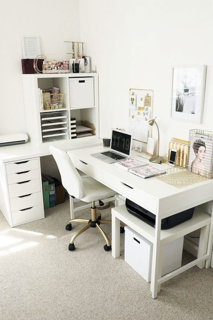 m and s white desk
