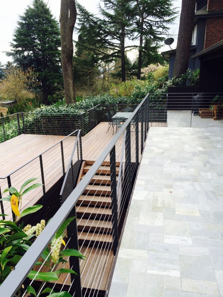 deck railing ideas plexiglass
