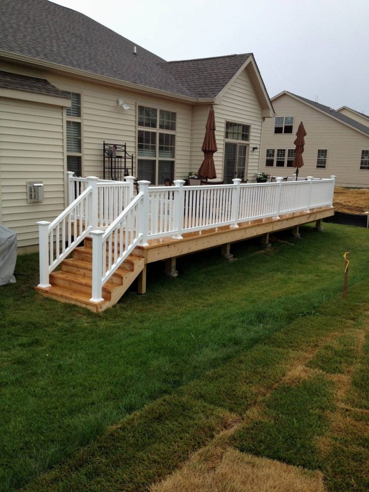 deck ideas no railing
