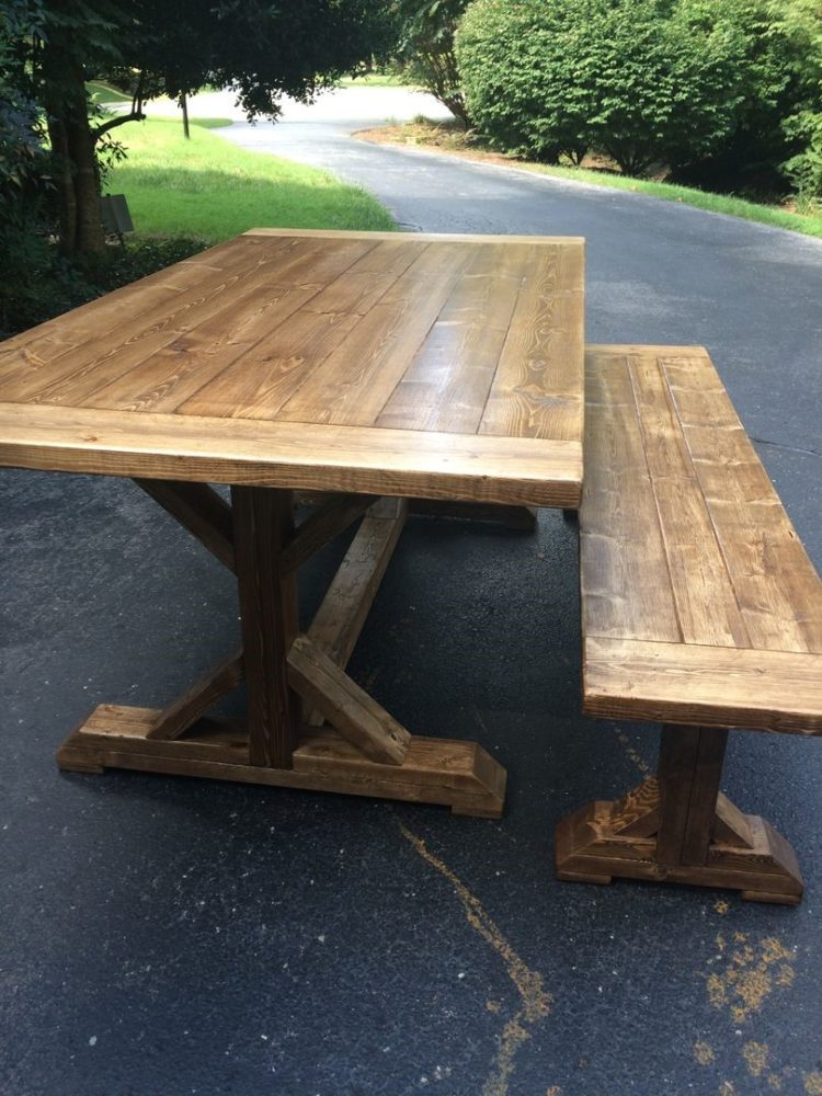 wood table for rent