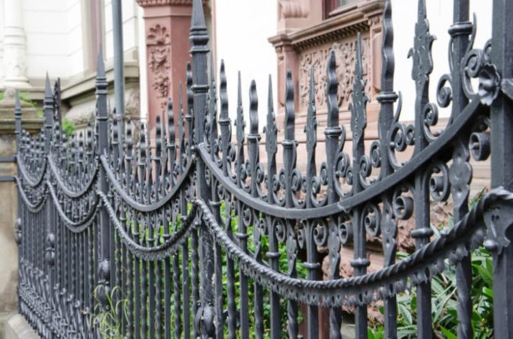 wrought iron fence latch