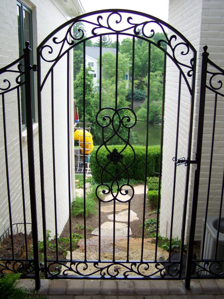 wrought iron fence covers