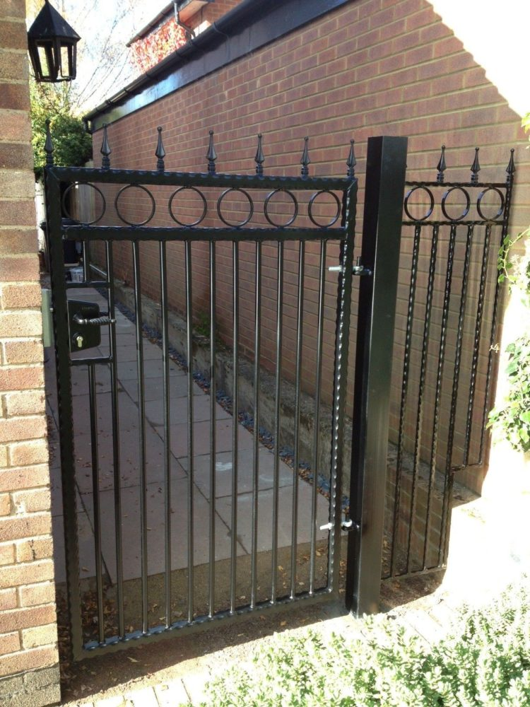 wrought iron fence components