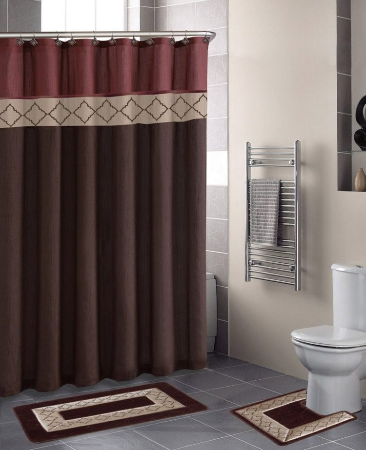 6 piece bathroom rug set