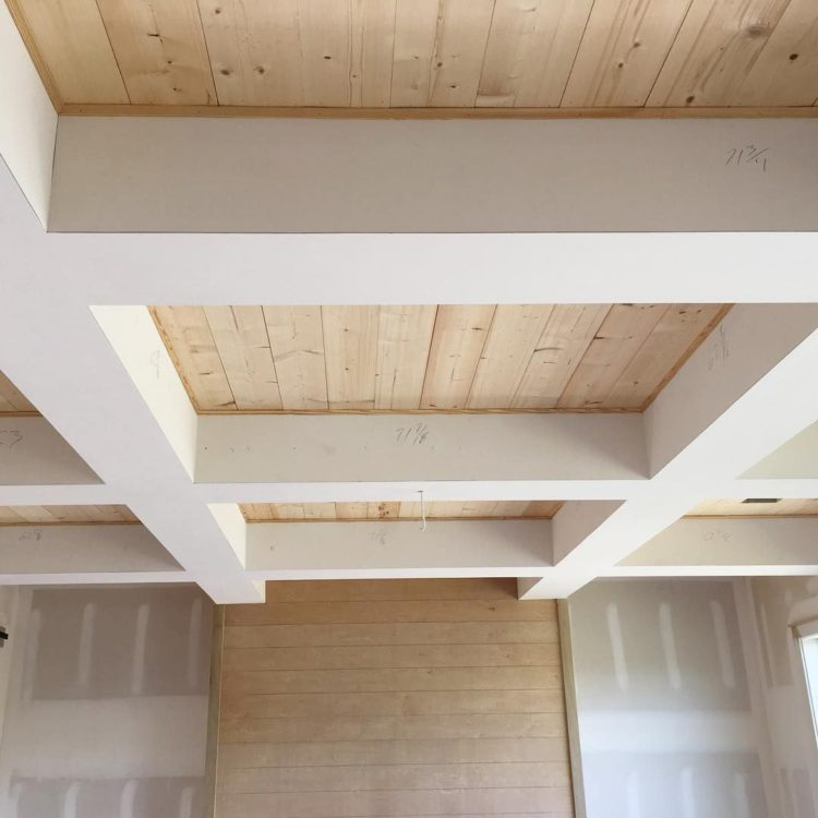 6 inch coffered ceiling