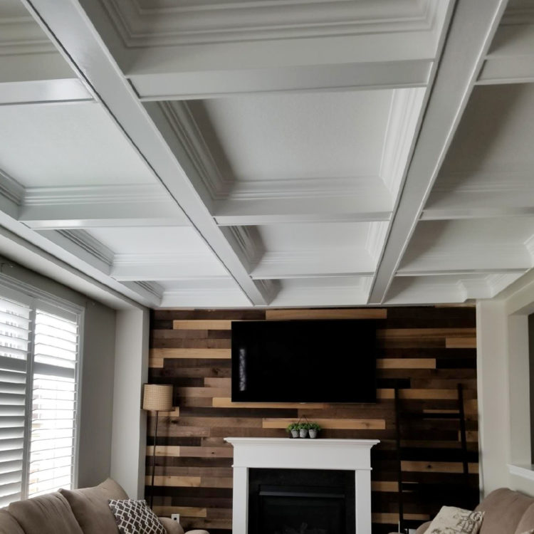 coffered ceiling 8 ft home