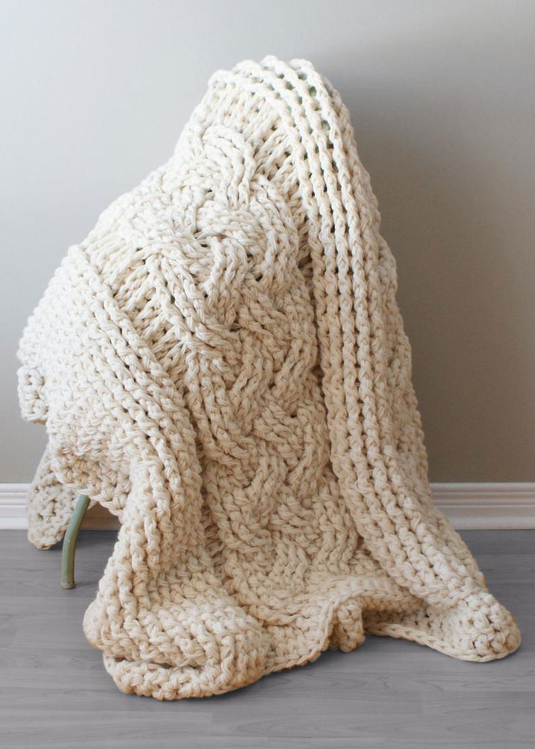 crochet blanket needle size