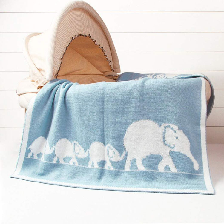 k luxe baby blanket with rattle