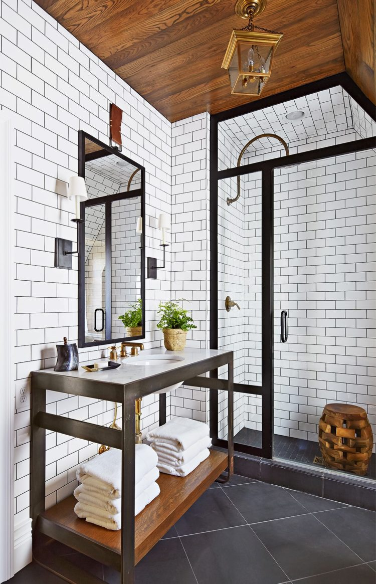 subway tile entire bathroom