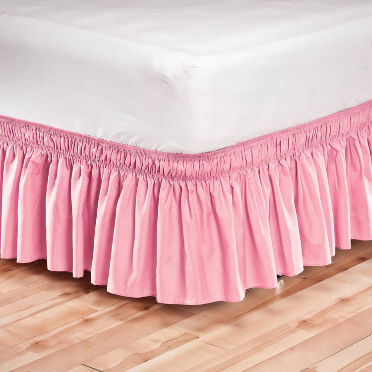 bed skirt king linen