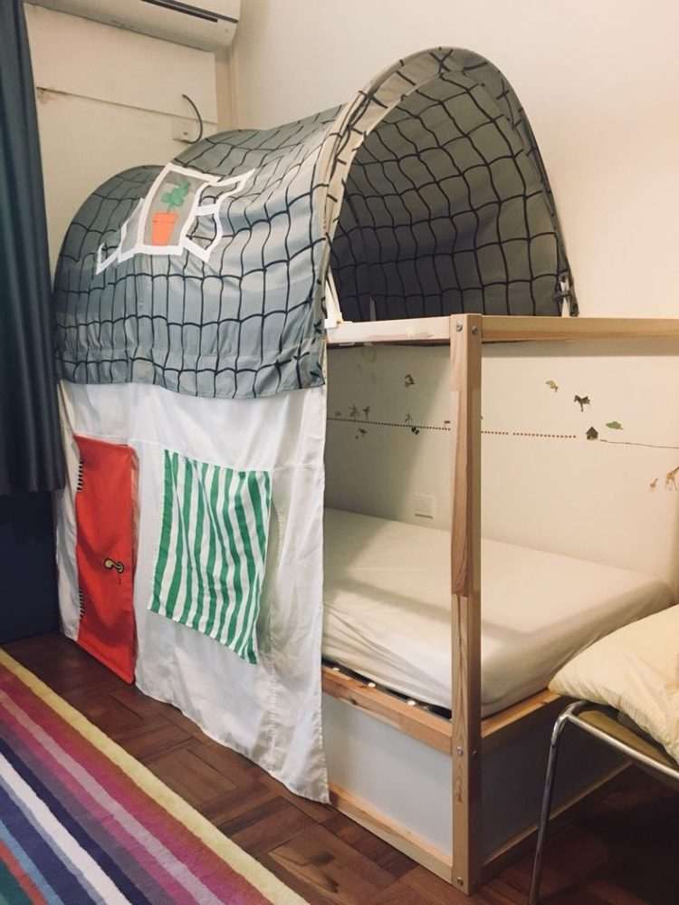 bed tent with curtain