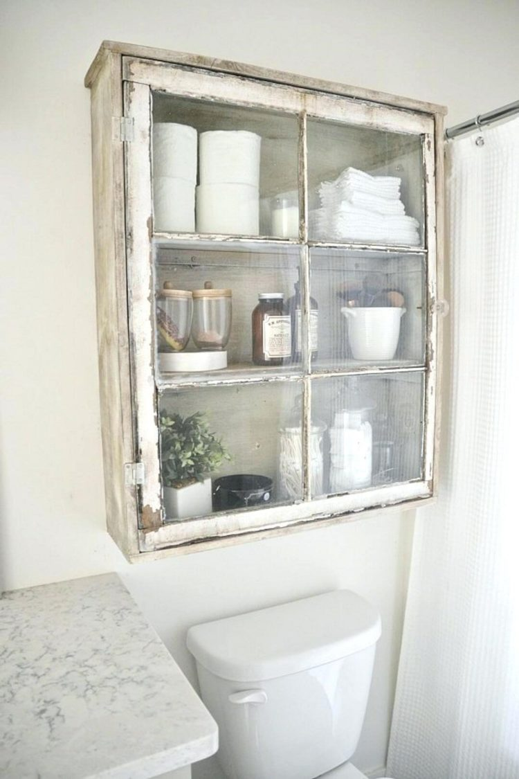 over the toilet storage for travel trailer