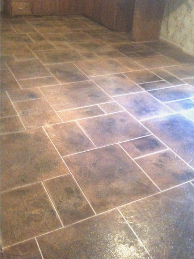 vinyl tile in kitchen