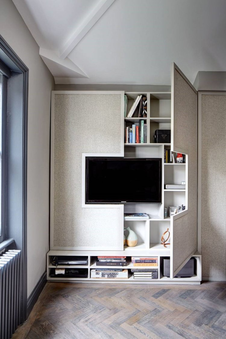 tv stand with high mount