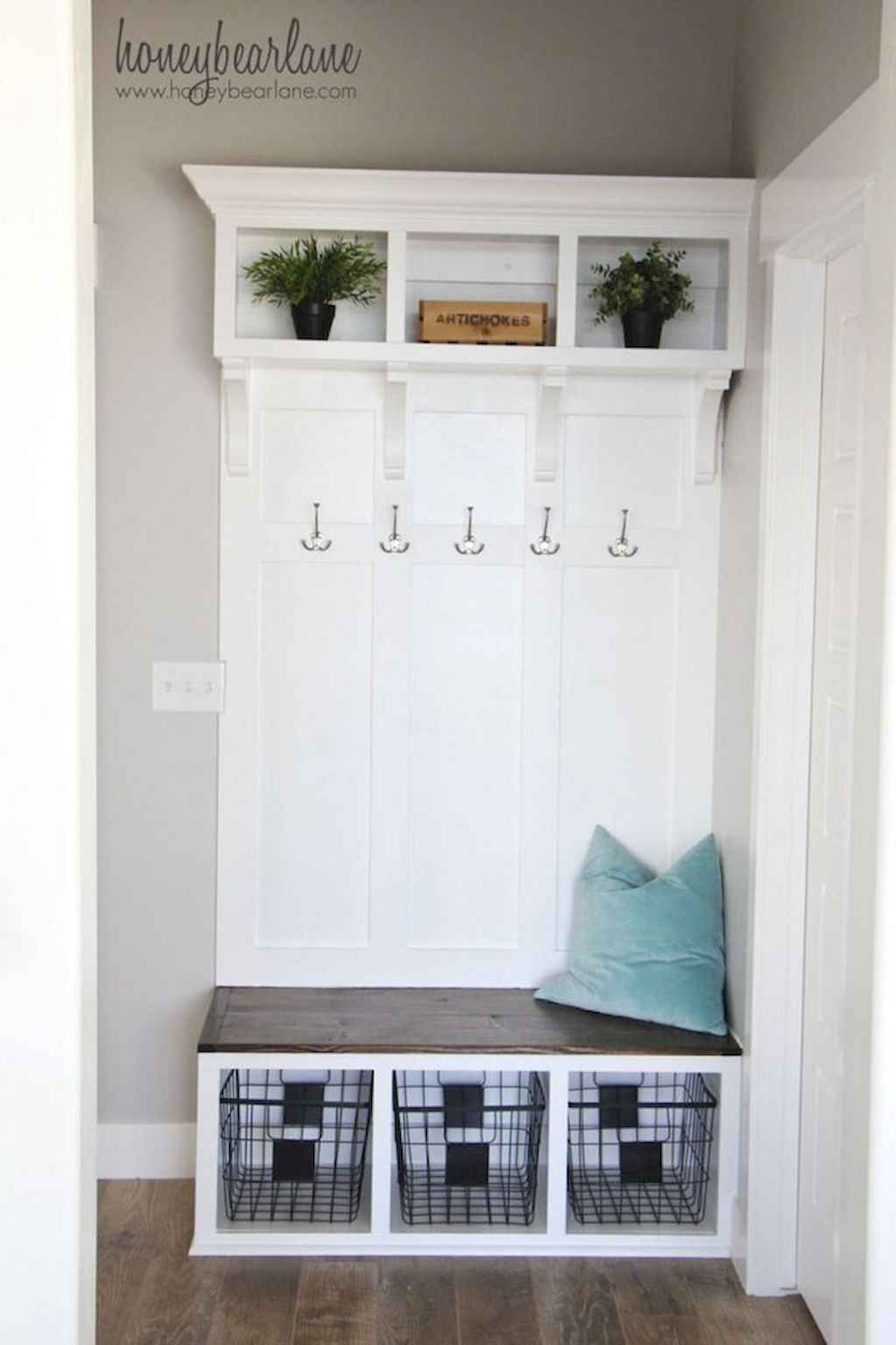 mudroom in a house